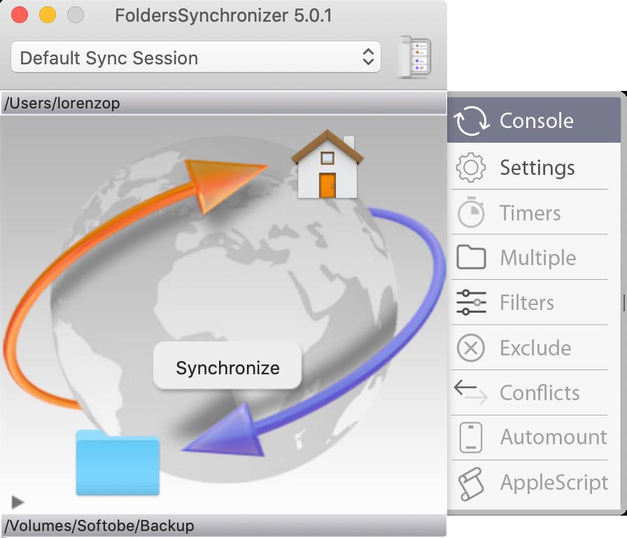 FoldersSynchronizer 5.1.7 - Sync and Backup on macOS Image